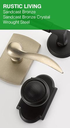 Sandcast Bronze, Crystal & Wrought Steel